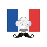 France flag classic culture. Illustration design Royalty Free Stock Photos