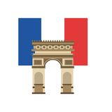 France flag classic culture. Illustration design Stock Image
