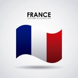 France flag classic culture. Illustration design Royalty Free Stock Photo