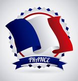 France flag classic culture. Illustration design Royalty Free Stock Images