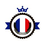 France flag classic culture. Illustration design Royalty Free Stock Photography