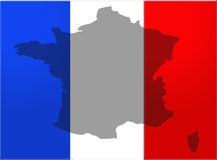 France flag with country Stock Photography