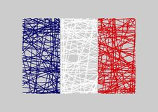 France flag design concept Royalty Free Stock Photo