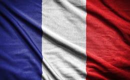France flag.flag on background.  Stock Photos