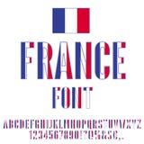 France Flag Font Stock Image