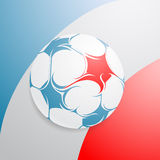 France flag with football Stock Image