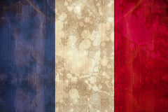 France flag in grunge effect Stock Photos