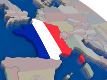 France with flag Stock Photography