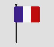 France flag icon illustrated Stock Images