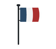 France flag icon illustrated Royalty Free Stock Image