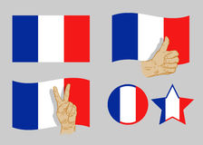 France flag icon set. vector illustration Stock Photos