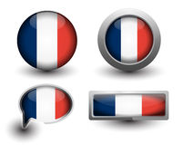 France flag icons Royalty Free Stock Images