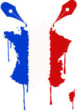 France flag nib Stock Image
