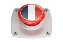 France flag push button, 3D Royalty Free Stock Photos