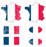 France flag set Stock Photos