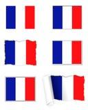 France flag set Royalty Free Stock Photography