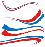 France flag set isolated on white Stock Photos