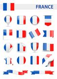 France Flag Vector Set Royalty Free Stock Image