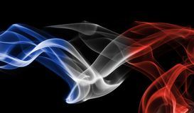 France flag smoke Stock Images
