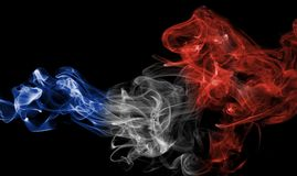 France flag smoke Royalty Free Stock Images