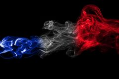 France flag smoke Royalty Free Stock Photography