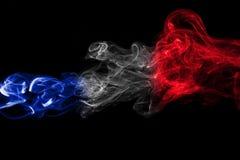 France flag smoke royalty free stock photography