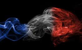 France flag smoke Stock Photography