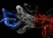 France flag smoke Stock Image