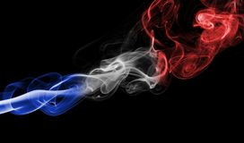 France flag smoke Royalty Free Stock Image