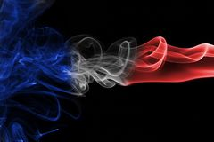France flag smoke Stock Photos
