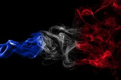 France flag smoke Royalty Free Stock Photo
