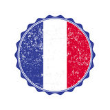 France flag stamp with grunge. Vector illustration Stock Photo