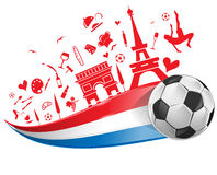 FRANCE flag and symbol Stock Image
