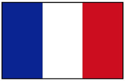 France flag Royalty Free Stock Photography