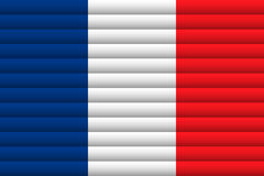 France Flag. Vector Illustration. Royalty Free Stock Photos