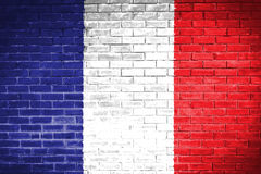France flag,wall texture background Royalty Free Stock Photo
