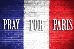 France flag,wall texture background Royalty Free Stock Image