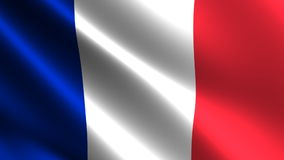 France flag waving in the wind Stock Photo