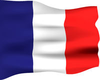 France flagi 3 d Obrazy Royalty Free