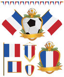 France flags Royalty Free Stock Photo