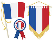 France flags Royalty Free Stock Photos
