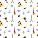 France flat design Stock Photography