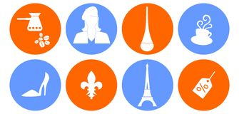 France flat design Royalty Free Stock Photo