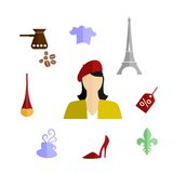 France flat design Royalty Free Stock Image