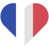 France flat heart flag Royalty Free Stock Photography