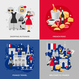France Flat Set Royalty Free Stock Images