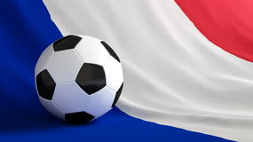 France football. Ball for football on the flag of France Stock Photos