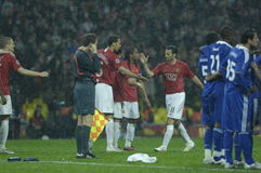 France Football 2009 Best 30 Players - Ryan Giggs. UEFA Champions League Final 2008 Moscow Manchester United (in red)-Chelsea(in blue) 1-1(5-4). Rian Giggs royalty free stock image