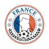 France football elegant label Royalty Free Stock Images