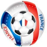 France football elegant shiny icon Stock Images